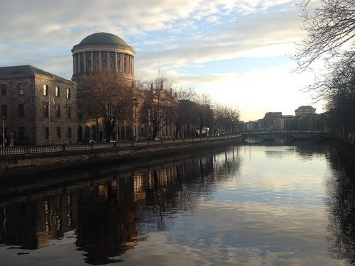 The Four Courts by the Liffey in Dublin Photo: Heatheronhertravels.com