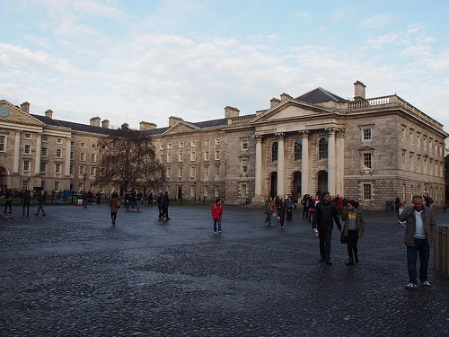 The quad at Trinity College, Dublin Photo: Heatheronhertravels.com