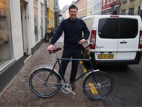 Guy with his new Sogreni Bicycle in Copenhagen Photo: Heatheronhertravels.com