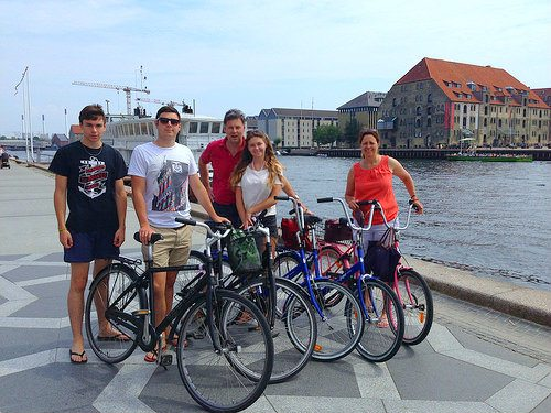 With our bikes, by the harbour in Copenhagen Photo: Heatheronhertravels.com