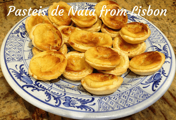 The world on a plate at Christmas with my Pasteis de Nata from Lisbon