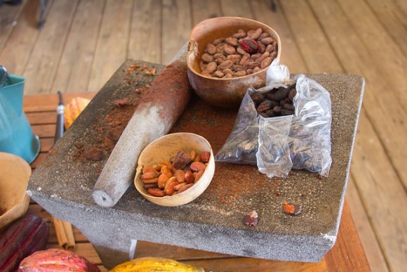 Ingredients for making chocolate at the Grenada Chocolate Festival