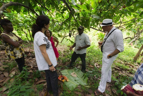 A hike through a cocoa plantation at the Grenada Chocolate Festival
