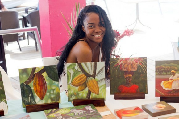 Art show at the Grenada Chocolate Festival
