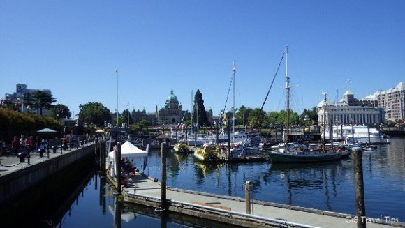Inner Harbour , Victoria,  BC  Photo: gr8traveltips.com
