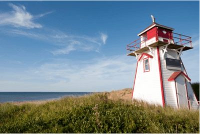 The lighthouses of Prince Edward Island Canada