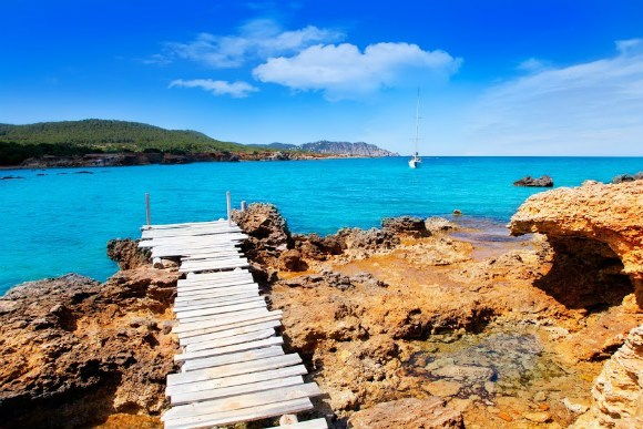 Explore the rugged coastline of Ibiza