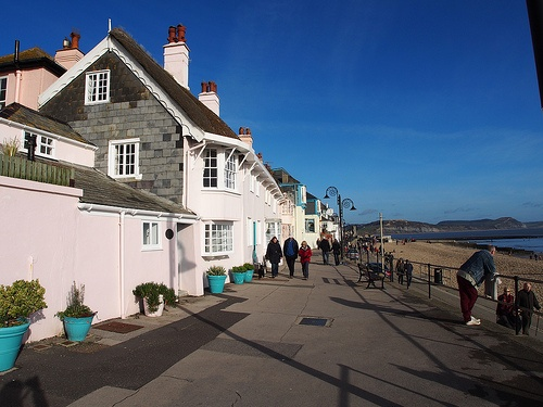 The promenade at Lyme Regis Photo: Heatheronhertravels.com