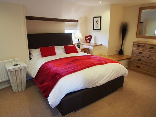 Master Bedroom at Red Doors Farm in Devon Photo: Heatheronhertravels.com