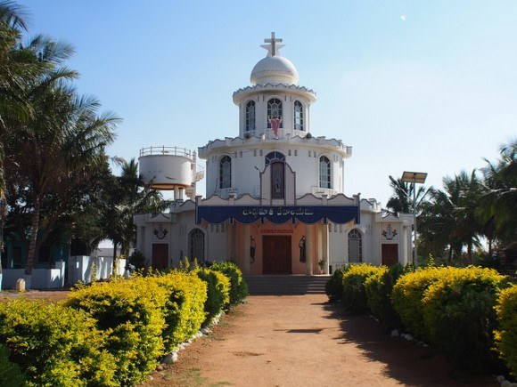 Church at P. Yaleru, Andhra Pradesh, India Photo: Heatheronhertravels.com