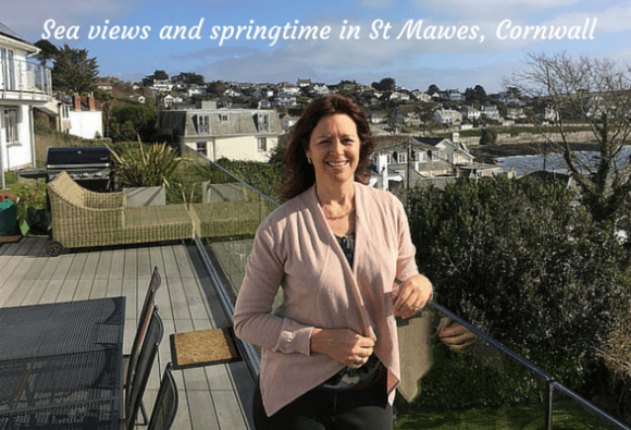 Sea Views and springtime in St Mawes, Cornwall