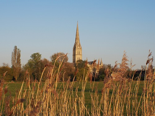 Salisbury Cathedral from across the water meadow Photo: Heatheronhertravels.com