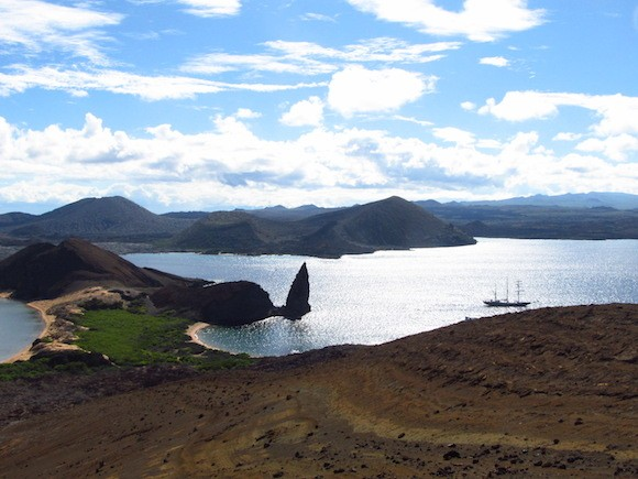 View of Pinnacle Rock from atop Bartolomé Island Photo: Kate Convissor