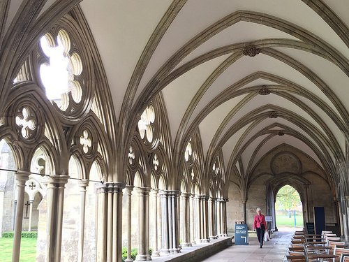 Cloisters of Salisbury Cathedral Photo: Heatheronhertravels.com