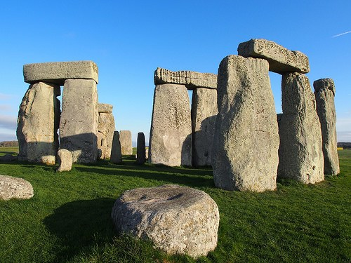Inside the stone circle at Stonehenge