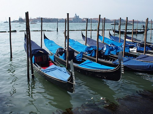 Gondolas in St Mark's square, Venice Photo: Heatheronhertravels.com