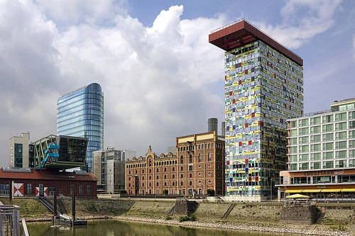 Medienhafen in Dusseldorf by Wojtek Gurak on Flickr