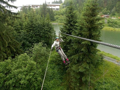 Zip wire at Horn Park, Wilder Kaiser