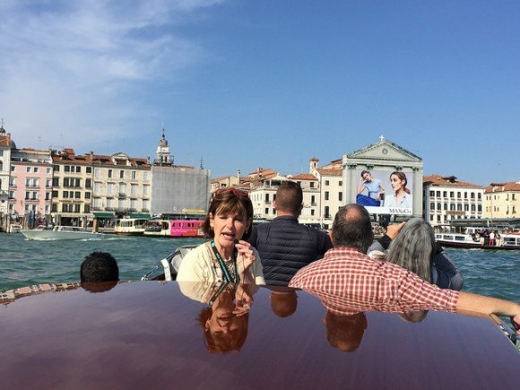 Our guide on the Walks of Italy Boat tour in Venice Photo: Heatheronhertravels.com