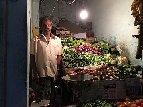 Vegetable stall in Indira Nagar, Bangalore Photo: Heatheronhertravels.com