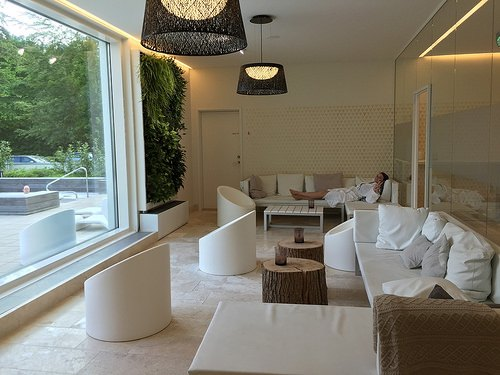 Spa relaxation area at Kurhotel Skodsborg Photo: Heatheronhertravels.com