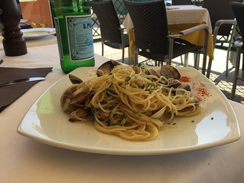 Linguine alle Vongole in Venice Photo: Heatheronhertravels.com