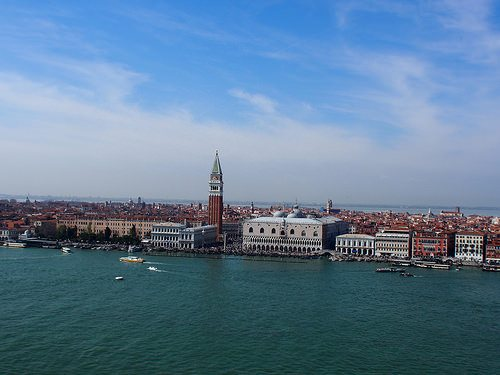 View of San Marco from the bell tower of San Georgio in Venice Photo: Heatheronhertravels.com