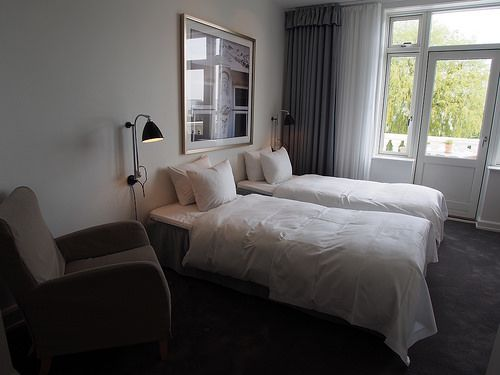 Restful bedrooms at Kurhotel Skodsborg, Copenhagen Photo: Heatheronhertravels.com