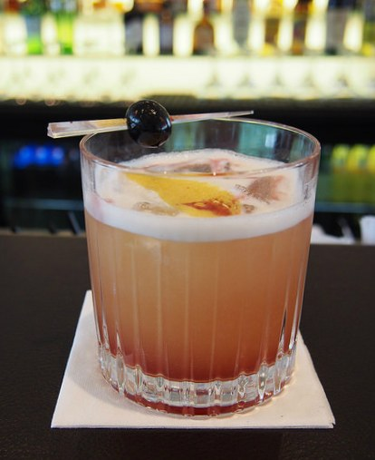 New Nordic Whiskey Sour at Kurhotel Skodsborg in Copenhagen Photo: Heatheronhertravels.com