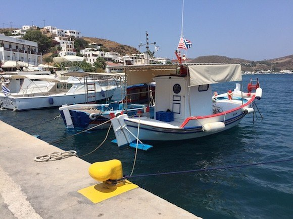 Boats in the Harbour of Patmos, Greece Photo: Heatheronhertravels.com