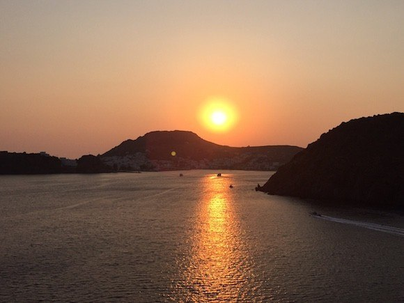 Sunset Over Patmos, Greece Photo: Heatheronhertravels.com