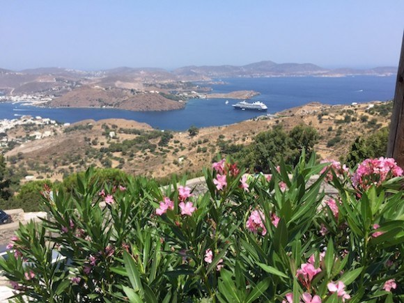View of Azamara Journey on Patmos, Greece Photo: Heatheronhertravels.com