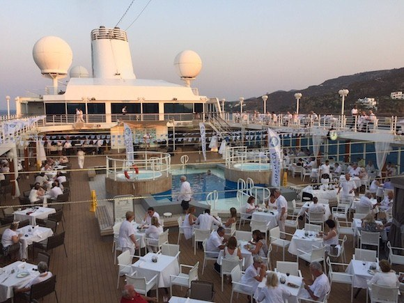 White Night Party on Board Azamara Journey Photo: Heatheronhertravels.com