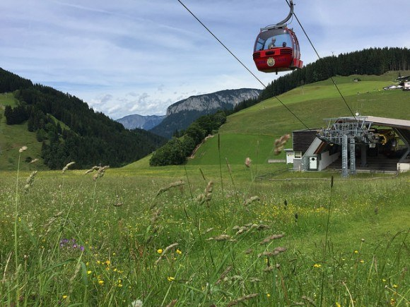 Cable Car in Wilder Kaiser, Austria Photo: Heatheronhertravels.com