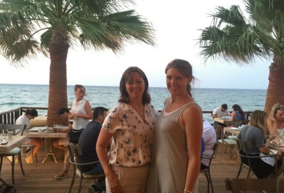 Heather and Sophia at Anadalis restaurant on Zakynthos Photo: Heatheronhertravels.com