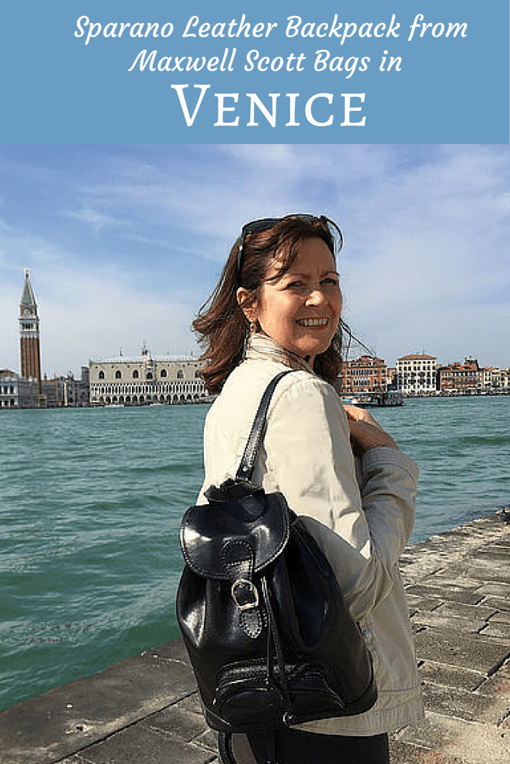 exploring venice with my maxwell scott leather backpack heather on her travels. Black Bedroom Furniture Sets. Home Design Ideas