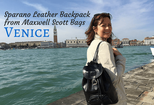 Exploring Venice with my  Maxwell Scott leather backpack + reader offer