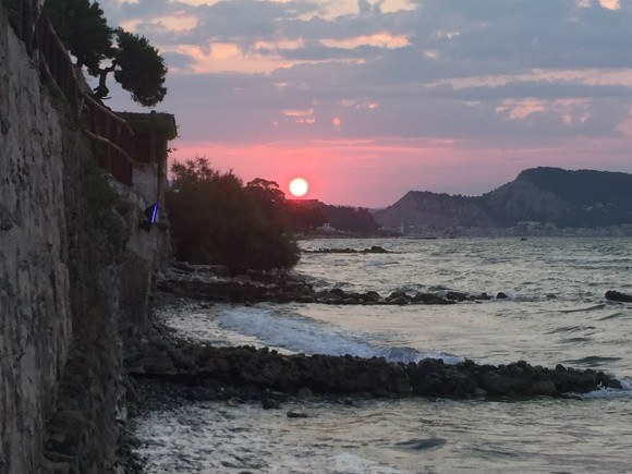 Sunset at Anadalis Restaurant, Zakynthos Photo: Heatheronhertravels.com