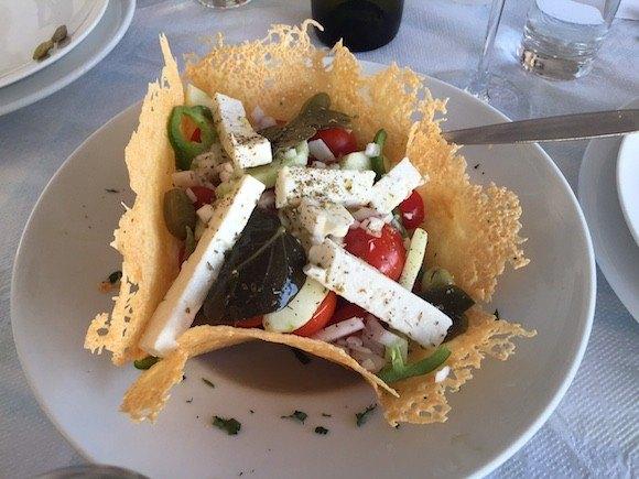 Greek Salad at Kalisti Taverna Photo: Heatheronhertravels.com