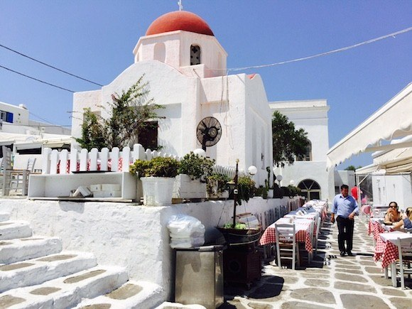 Church in Mykonos, Greece Photo: Heatheronhertravels.com
