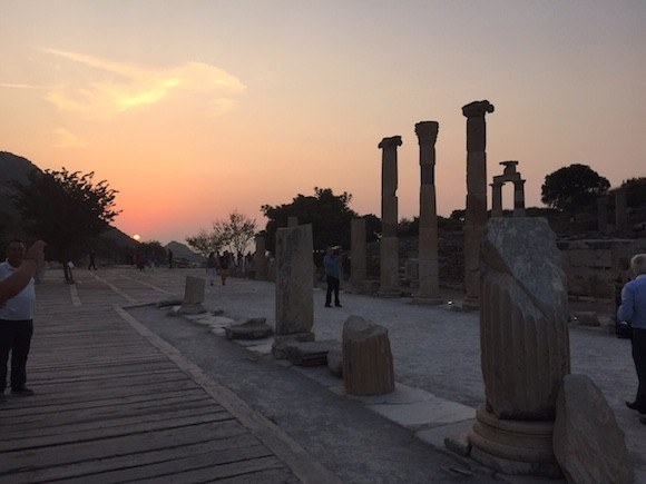 Sunset at Ephesus, Turkey