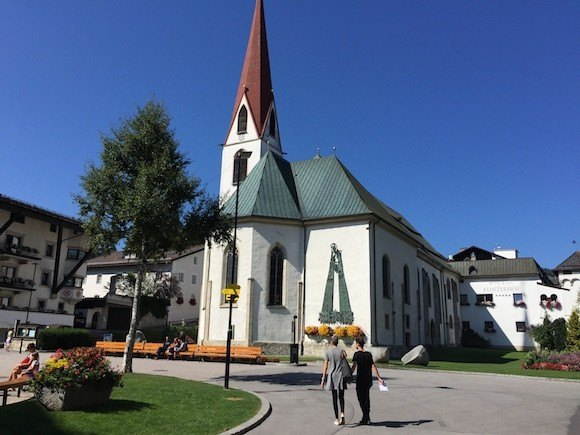 The church in the square of Seefeld Photo: Heatheronhertravels.com