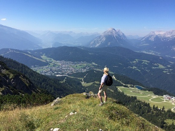 The view over the valley down to Seefeld Photo: Heatheronhertravels.com