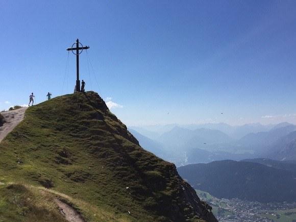 The cross on Seefelder Spitze in Austria Photo: Heatheronhertravels.com