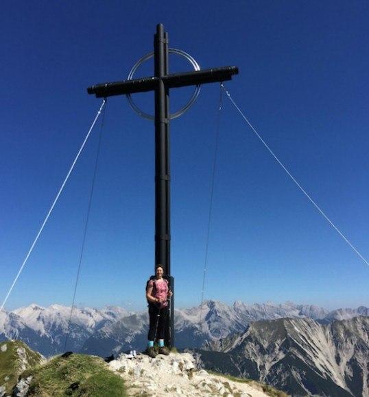 The cross at Seefelder Spitze in Austria Photo: Heatheronhertravels.com