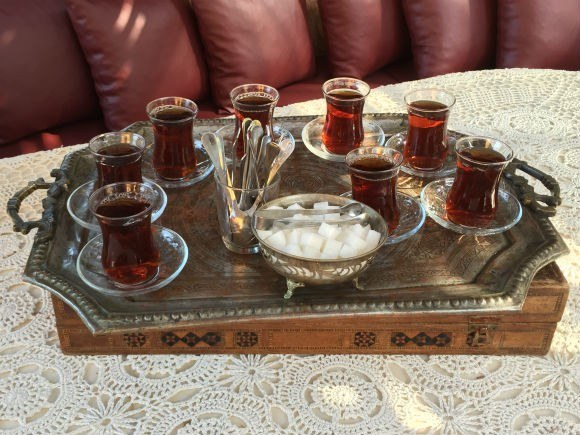 Turkish tea is served as our taste of Turkish Country life Photo: Heatheronhertravels.com