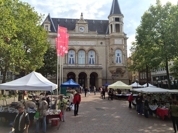 Flea Market in Luxembourg City Photo: Heatheronhertravels.com