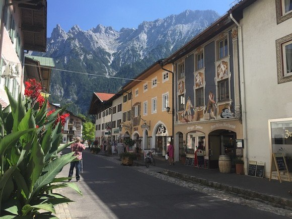 The painted houses of Mittenwald in Germany with Headwater Holidays Photo: Heatheronhertravels.com