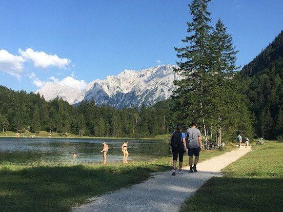 Lake Ferchensee above Mittenwald in Germany Photo: Heatheronhertravels.com