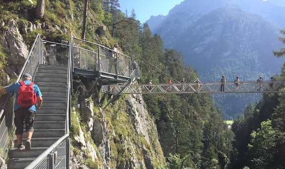 The Leutasch Gorge in Austria with Headwater Holidays Photo: Heatheronhertravels.com